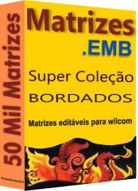 50 Mil Matrizes de Bordado .EMB